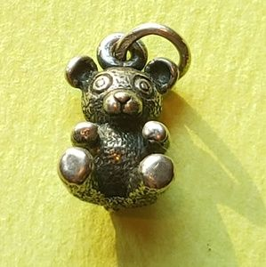 James Avery Sterling Silver 3D Teddy Bear Charm